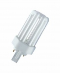 Ampoule Fluocompacte - Osram Dulux T Plus - 26 Watts - GX24D-3 - 3000K