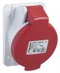 Socle de prise inversée - PratiKa - 32A - IP44 - 220V - 2P+T - Schneider electric PKF32F423