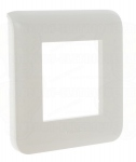Enjoliveur 2 modules blanc Legrand Mosaic