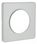 Plaque Schneider Electric Odace Touch - 1 poste - Alu - Liseré Alu