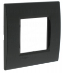 Plaque 2 modules Bticino Living Light Anthracite Carré