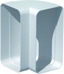 Coude Plat PVC rigide - 90 Degrès Verticale - 55 x 110 mm