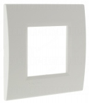 Plaque 2 modules Bticino Living Light Blanc Carré