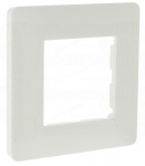 Plaque 1 poste Hager Essensya Blanc