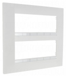 Plaque Schneider Electric Altira - 2 x 3 Postes - Entraxe 45 mm - Blanc Polaire