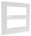 Plaque Schneider Electric Altira - 2 x 3 Postes - Entraxe 45 mm - Blanc Polaire