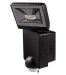 Projecteur à LED 8 Watts noir avec détecteur de mouvement