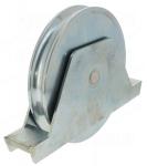 Roue pour portail - Gorge ronde - 160 mm - 500 kg