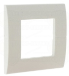 Plaque Hager Systo 2 modules Blanche