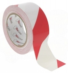 Ruban de signalisation rouge et blanc 33MX50MM