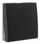 Bouton poussoir inverseur 2 modules Hager Systo noir