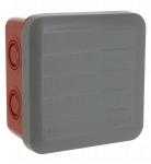 Boite de dérivation étanche 80 x 80 x 45 mm Legrand Plexo entrée défoncable gris rouge