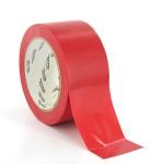Ruban adhésifs vinyle Rouge largeur 50 mm spécial sol