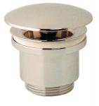 Bonde champignon - Diamètre 63 - Laiton chromé - Hauteur 60 mm - Sans lanterne - Raccord cylindrique - Valentin 12300000000