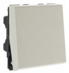 Bouton poussoir 2 modules blanc Legrand Mosaic antimicrobien