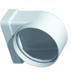 Coude Plat PVC rigide - Rectangulaire 40 x 110 mm vers Rond 80 mm