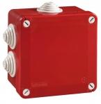 Boite de dérivation - A tétines - 100 x 100 x 50 mm - Rouge - Boite étanche - Iboco 05546