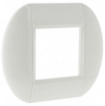 Plaque 2 modules Bticino Living Light Blanche Ronde