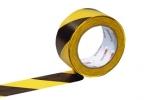Ruban de signalisation jaune et noir largeur 50 mm