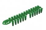Chevilles universelles vertes en grappe 6 x 23mm. Sachet de 200