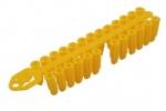 Chevilles universelles jaunes en grappe 8 x 30mm. Sachet de 150