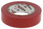 Ruban adh�sif �lectricien rouge en rouleau de 10 m�tres