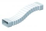 Conduit Plat PVC souple - Rectangulaire - 55 x 220 mm - Longueur 0.5 mètres