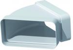 Coude Plat PVC rigide - 45 Degrès Horizontale - 55 x 110 mm