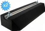 Support au sol anti-vibratiles Rubber Foot 600 x 220 x 95 mm