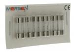 10 fusibles en verre 5 x 20 250V 2 Ampères type T (Temporisé)