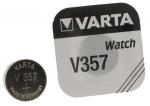 .Pile Bouton Varta V357 SR44 1,55 Volts à l'oxyde d'argent