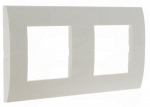 Plaque Hager Systo horizontale 2x2 modules Blanche
