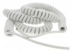 Cable spiralé 3G1 mm longueur 5 mètres blanc