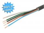 Cable électrique R2V 5G1.5 mm² - Au mètre