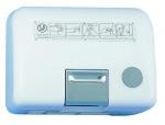 Séche main bouton poussoir SL 2500 Blanc 2600 watts