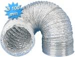 Gaine alu - Souple - Diamètre 100 mm - 10 mètres - Unelvent