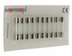 10 fusibles en verre 5 x 20 250V 0,16 Ampère type F (Rapide)