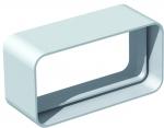 Manchon plat PVC rigide - Rectangulaire - Mâle / Mâle - 55 x 220 mm
