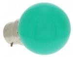 Ampoule à LED B22 0.8W 230 Volts Vert