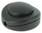 Interrupteur à pied uni-polaire noir touche noir