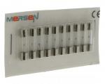 10 fusibles en verre 5 x 20 250V 5 Ampères type T (Temporisé)