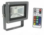 Projecteur extérieur à LED - Vision-EL - 10W - RGB - Gris - IP65 - Télécommande