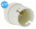 10 douilles B22 blanche simple bague