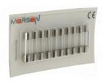 10 fusibles en verre 5 x 20 250V 0,5 Ampère type T (Temporisé)