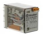 Relais miniature 230 volts 4 contacts 7 ampères + LED
