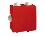 Boite de dérivation - A tétines - 80 x 80 x 40 mm - Rouge - Boite étanche - Iboco 05545