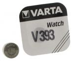 .Pile bouton Varta V393 SR 48 1,55 volts à l'oxyde d'argent