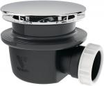 Bonde de douche - Diamètre 90mm - Extra plate - Hauteur 60mm - Sortie horizontale - Valentin 57170000000