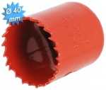 Scie cloche HSS bi-métal diamètre 40 mm