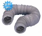 Gaine PVC souple renforcée diamètre 80 mm longueur de 6 mètres
